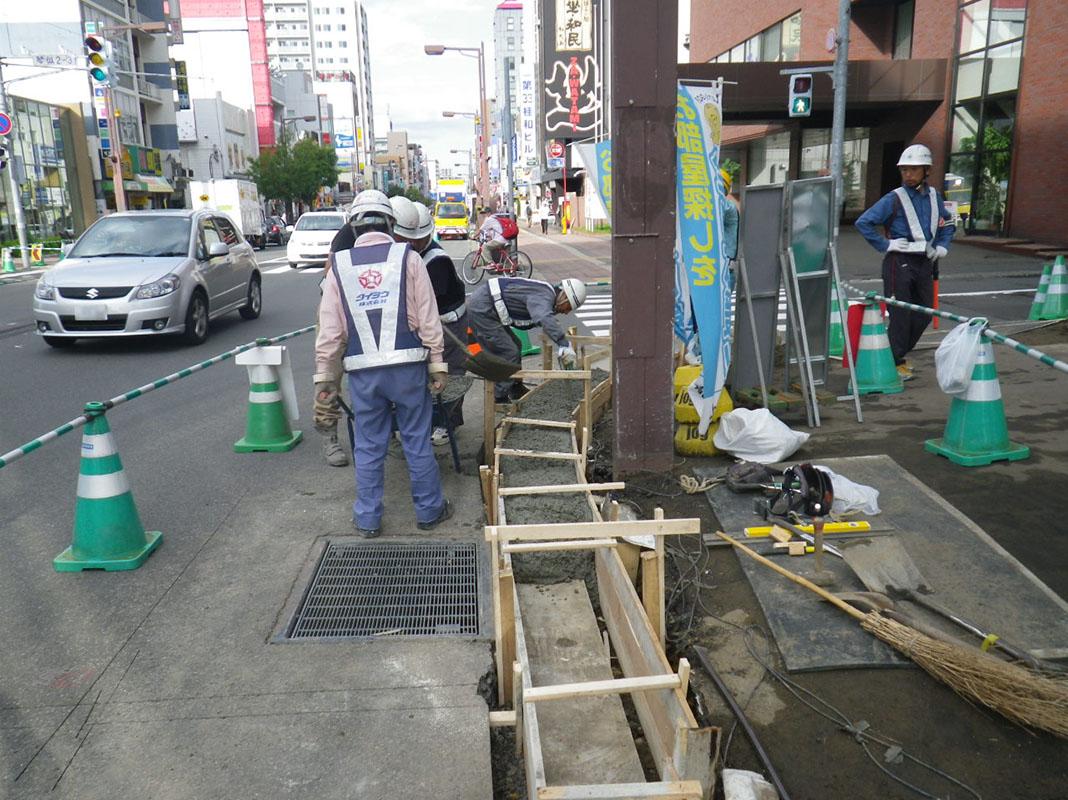 札幌市下水道工事・水道関連工事・道路新設及び改良工事・バリアフリー新設及び改良工事 2014年