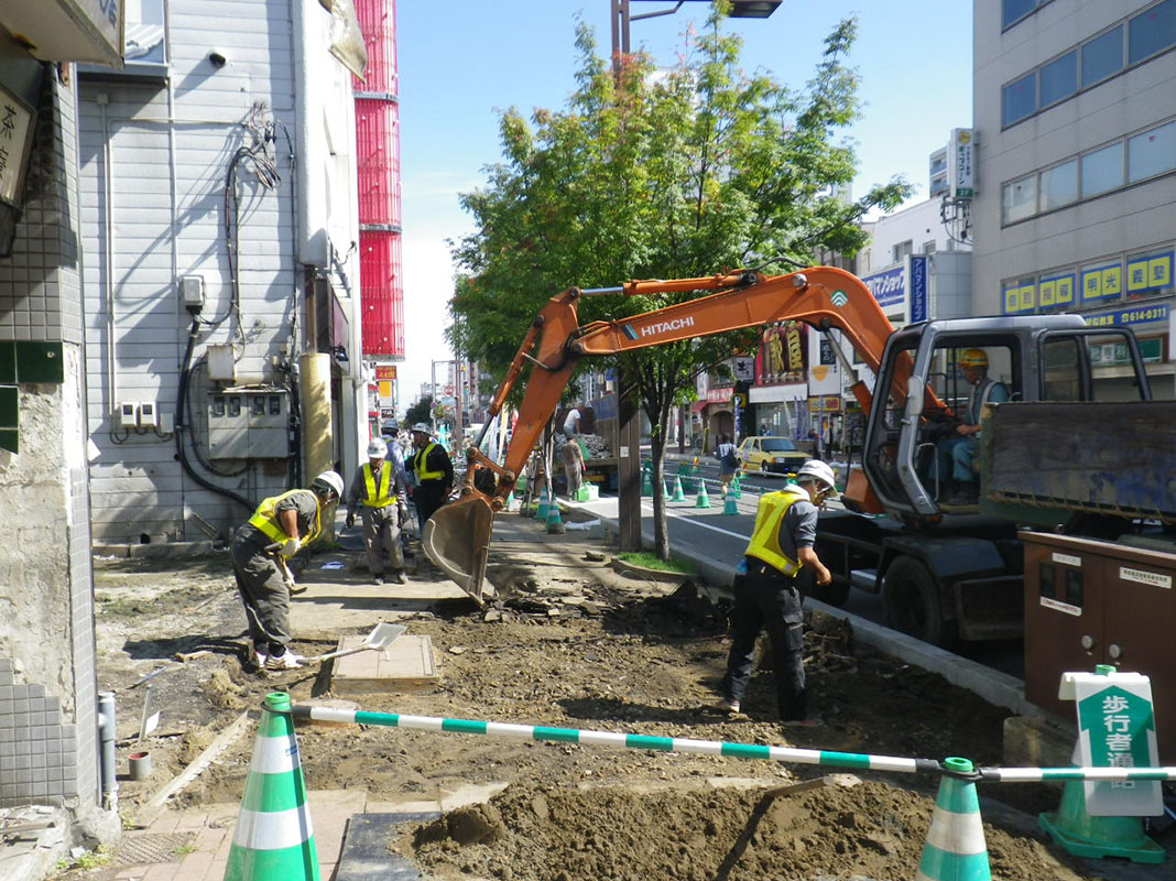 札幌市下水道工事・水道関連工事・道路新設及び改良工事・バリアフリー新設及び改良工事