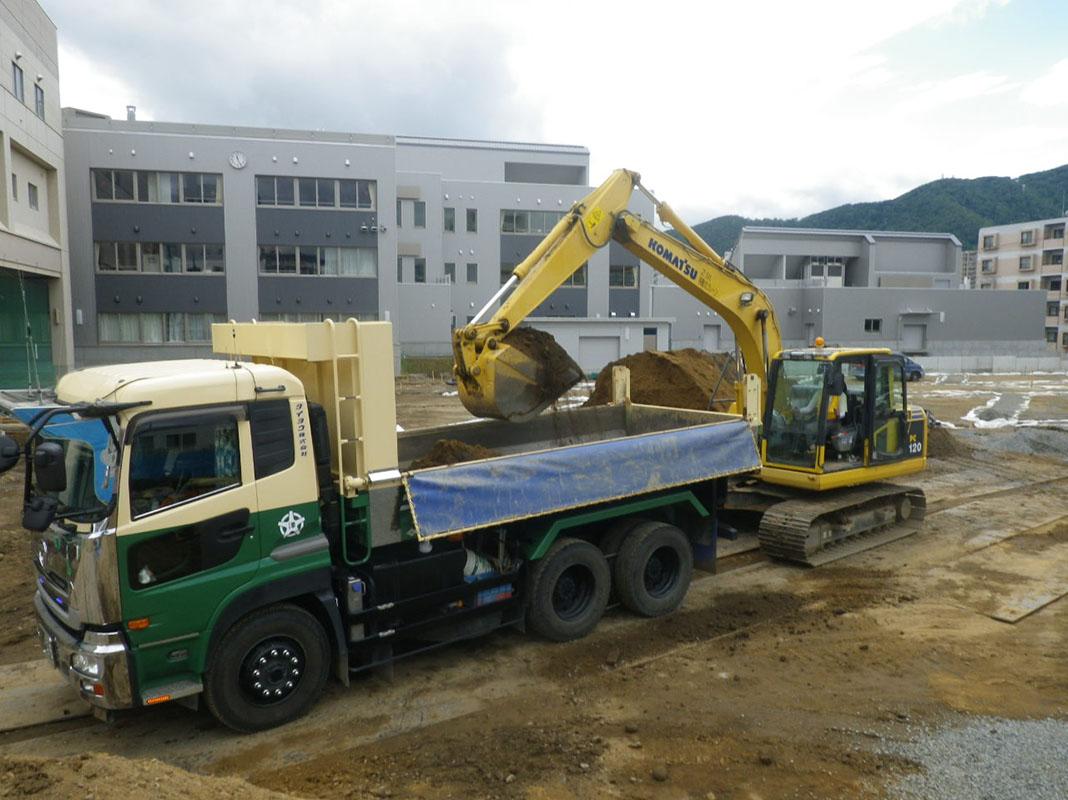 中島中学校校地整備工事 2015年